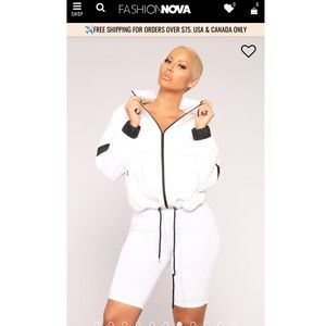 NWT fashion nova windbreaker jacket